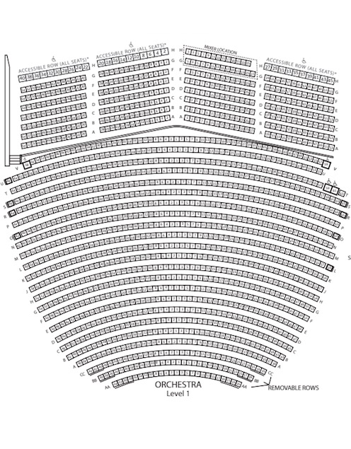 San Diego Civic Theatre Seating Chart Thumbnail - Click to See the Full-Size PDF