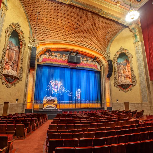 Balboa Theatre from Orchestra Section. Photo credit by Mike Hume.