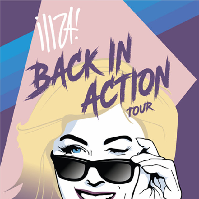 Iliza Back In Action Tour poster